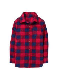 Crazy 8 Boys' Little Long Sleeve Flannel Shirt Jacket red Plaid M