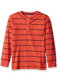 Crazy 8 Little Boys' Long Sleeve Henley  L