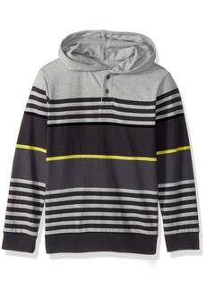 Crazy 8 Little Boys' Long Sleeve Hooded Henley  XS