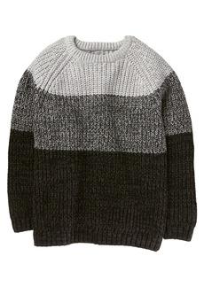 Crazy 8 Little Boys' Long Sleeve Raglan Ombre Sweater Grey XS
