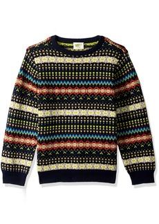 Crazy 8 Little Boys' Long Sleeve Sweater Fair Isle  L