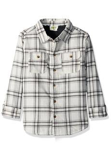 Crazy 8 Little Boys' Plaid Sherpa Shirt Jacket  XL