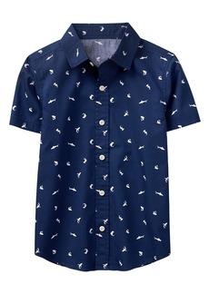 Crazy 8 Little Boys' Short Sleeve Shark Shirt  L