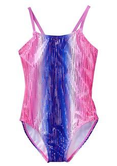 Crazy 8 Little Girls' 1-Piece Metallic Swimsuit  L