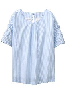 Crazy 8 Girls' Little 3/4 Bell Sleeve Pullover Pintuck TOP  S