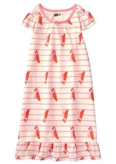 Crazy 8 Little Girls' Cap Sleeve Ruffle Hem Sleep Gown  XS