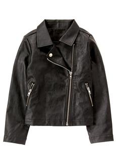 Crazy 8 Little Girls' Faux Leather Jacket  M