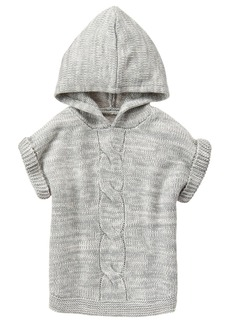 Crazy 8 Girls' Little Grey Hooded Poncho  S