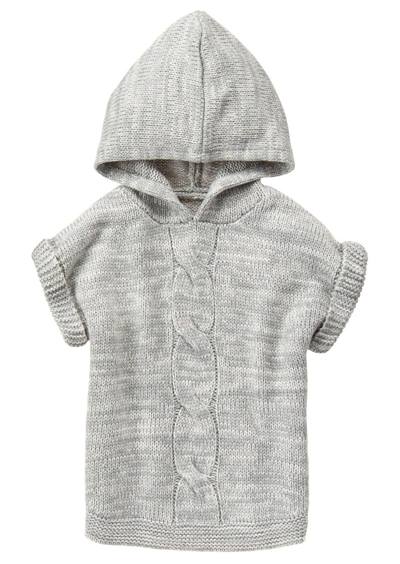 Crazy 8 Little Girls' Grey Hooded Poncho  S