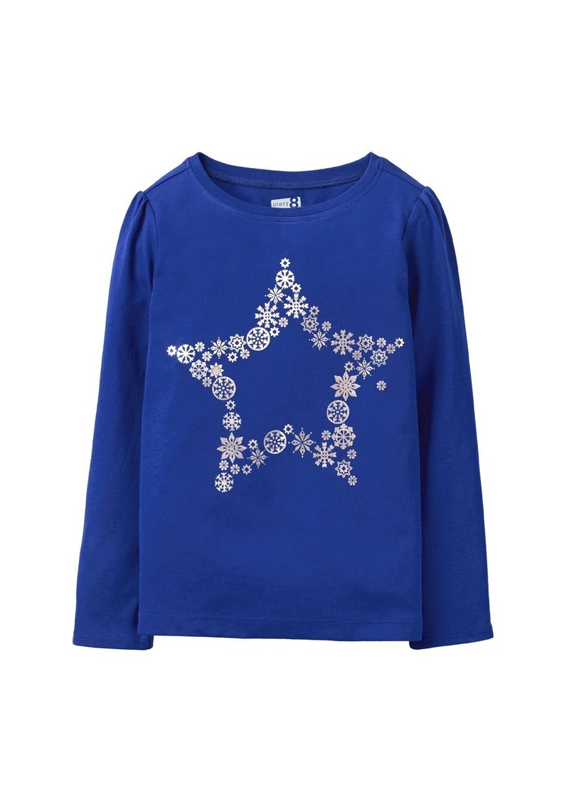 57512d9756f9 Crazy 8 Crazy 8 Little Girls' Long Sleeve Crewneck Graphic Tee S ...