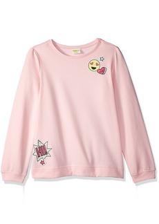 Crazy 8 Little Girls' Long Sleeve Emoji Pull Over Sweater  S
