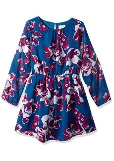 Crazy 8 Little Girls' Long Sleeve Floral Print Dress Multi