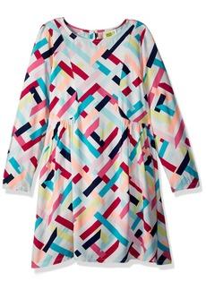 Crazy 8 Little Girls' Long Sleeve Geo Print Woven Dress
