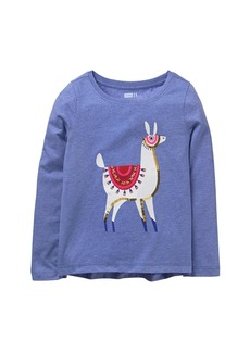 Crazy 8 Little Girls' Long Sleeve Scoop Neck Graphic Tee  M