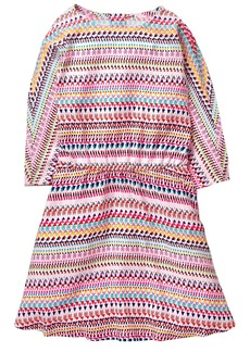 Crazy 8 Girls' Little Printed Button Back Dress Multi
