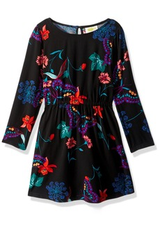 Crazy 8 Little Girls' Printed Long Sleeve Dress Multi