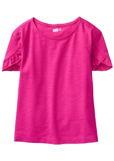 Crazy 8 Little Girls' Short Ruffle Tulip Sleeve Basic Tee  S