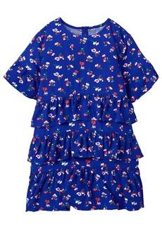 Crazy 8 Little Girls' Short Sleeve Tiered Ruffle Floral Woven Dress