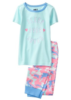 Crazy 8 Girls' Little Short Sleeve Tight FIT Pajama Set