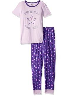 Crazy 8 Little Girls' Short Sleeve Tight Fit Pajama Set