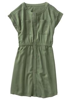 Crazy 8 Little Girls' Short Sleeve Woven Utilty Dress