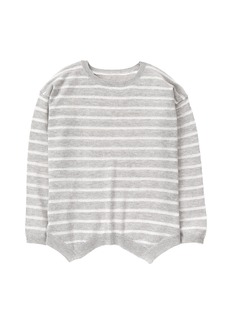 Crazy 8 Little Girls' Stripe Sharkbite Sweater  L