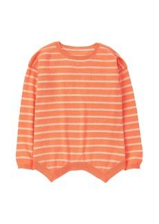 Crazy 8 Little Girls' Stripe Sharkbite Sweater  S