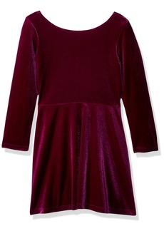 Crazy 8 Little Girls' Velvet a-Line Dress  L