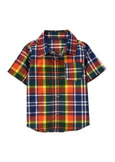 Crazy 8 Toddler Boys' His Li'l Convertible Button up Shirt Multi