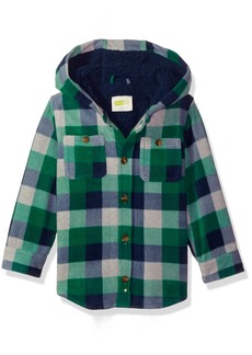 Crazy 8 Boys' Toddler Long Sleeve Hooded Shirt Jacket