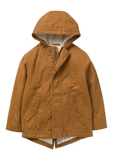 Crazy 8 Boys' Toddler Long Sleeve Sherpa Lined Utility Jacket tan