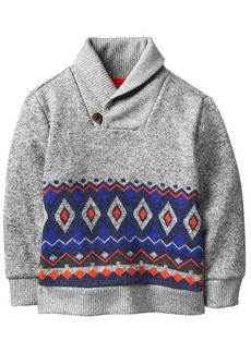 Crazy 8 Toddler Boys' Patterned Shawl Collar Sweater Multi 18-24 Mo