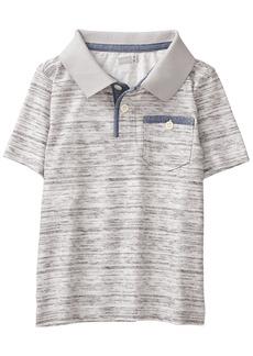 Crazy 8 Toddler Boys' Short Sleeve Marled Dye Polo  12-18 Mo