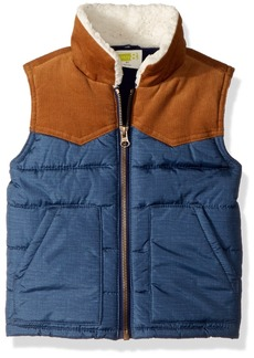 Crazy 8 Toddler Boys' Two-Tone Puffer Vest