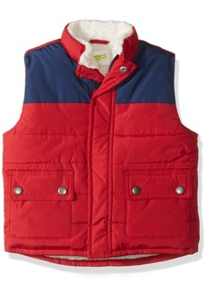 Crazy 8 Toddler Boys' Two-Tone Sherpa Lined Puffer Vest