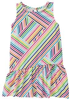 Crazy 8 Toddler Girls' Graphic Ruffle Dress Multi 18-24 Mo