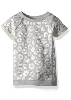 Crazy 8 Toddler Girls' Leopard Print Sweatshirt Dress