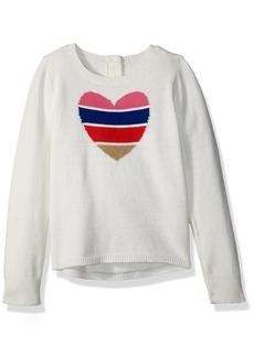 Crazy 8 Toddler Girls' Long Sleeve Hi-Low Heart Sweater