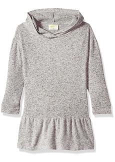 Crazy 8 Toddler Girls' Long Sleeve Knitted Peplum Dress Heather Grey T