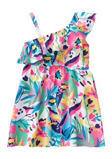 Crazy 8 Toddler Girls' One Shoulder Casual Woven Dress  T