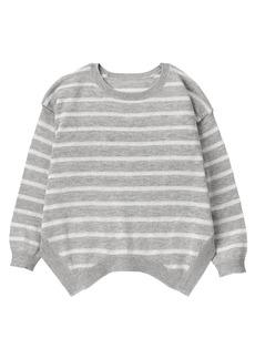Crazy 8 Toddler Girls' Shark Bite Hem Sweater