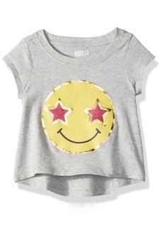 Crazy 8 Toddler Girls' Short-Sleeve Drapey Graphic Tee  6-12 Mo