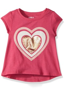 Crazy 8 Toddler Girls' Short-Sleeve Drapey Graphic Tee  6-12 Mo