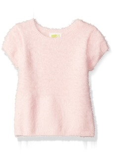 Crazy 8 Girls' Toddler Short-Sleeve Fuzzy Sweater