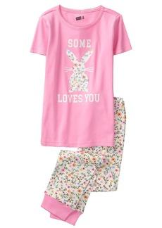 Crazy 8 Crazy  Little Girls' Short Sleeve Tight Fit Pajama Set