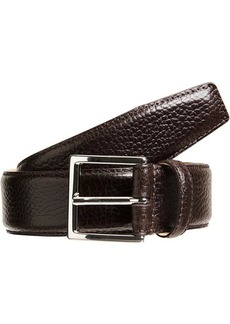Crockett & Jones Men's Grained Leather Belt