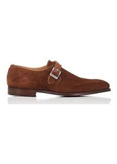 Crockett & Jones Men's Monkton Suede Monk-Strap Shoes