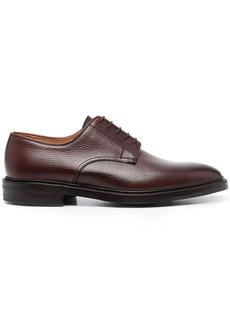 Crockett & Jones grained leather derby shoes