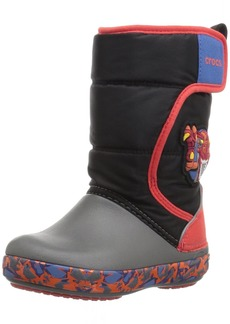 Crocs Boys LodgePoint Lights RoboRex Snow Boot