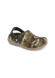 CROCS™ Classic Fuzz Lined Graphic Clog (Baby, Walker, Toddler & Little Kid)